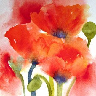 Foto op aquarelpapier