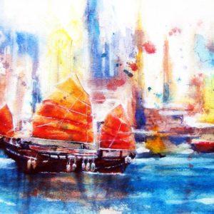 Foto op aquarelpapier 40x60cm