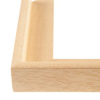 Baklijst voor canvas blank hout