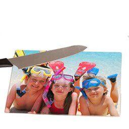 Glazen snijplank met foto XL