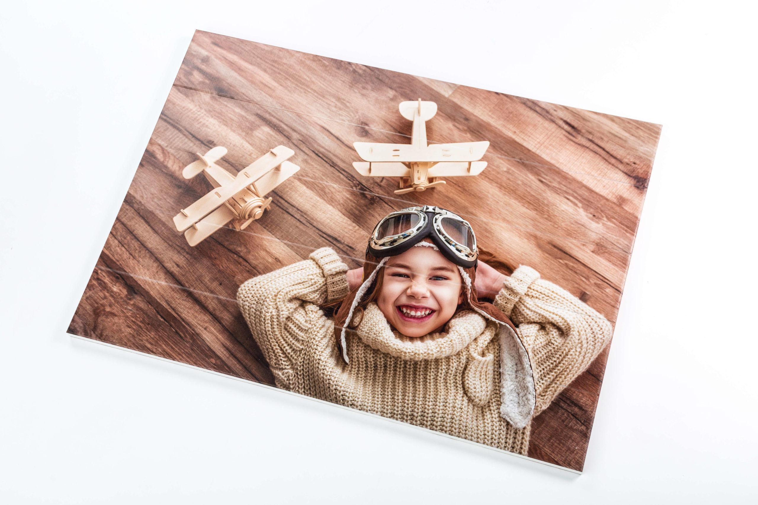 Foto op hout extra voordelig